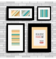 Set of modern blank frames template