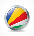 Seychelles flag button vector image vector image