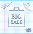 shoping bag with an inscription big sale line vector image