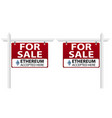 sign of the real estate for sale vector image