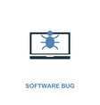 software bug icon in two colors premium design vector image