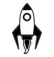spaceship rocket symbol vector image vector image