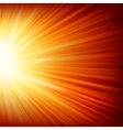 Stars descending on a path of golden light EPS 10 vector image vector image