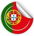 sticker design for flag of portugal vector image vector image