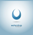 stylized blue water drop logo design vector image