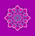 stylized lotus flower on pink background vector image