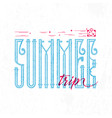 summer trip retro sign badge banner template vector image vector image