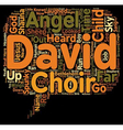 The Angel Child text background wordcloud concept vector image vector image