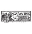 the state banner of new hampshire the granite vector image vector image