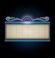 theater sign billboard frame design vector image vector image