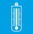thermometer icon white vector image vector image