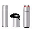 three thermos vector image vector image