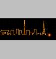 tokyo light streak skyline vector image