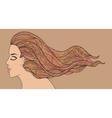 Vintage tints woman vector image