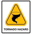 Warning tornado sign vector image vector image
