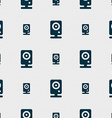 Web cam icon sign Seamless pattern with geometric vector image