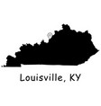 1301 louisville ky on kentucky state map vector image vector image