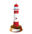 A decorative tower with an empty label vector image vector image