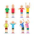 active seniors old men and women in different gym vector image vector image