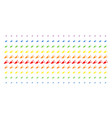 alert megaphone shape halftone spectrum pattern vector image