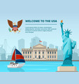 american urban landscape with historical vector image vector image