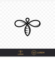 bee line icon for honey beekeeping vector image vector image