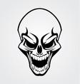 Black Skull Tribal vector image vector image