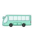 blue bus icon cartoon style vector image vector image