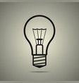 bulb icon in flat style black and white colors vector image vector image