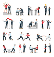 Business Confrontation People Flat Icons Set vector image