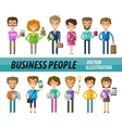 Business people on a white background A set of vector image