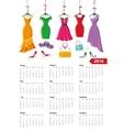 Calendar 2016 yearSummer dressesaccessories vector image