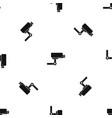cctv camera pattern seamless black vector image vector image