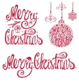 Christmas typography letteringcard elements set vector image vector image