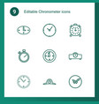 chronometer icons vector image vector image