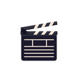 clapboard icon flat cinema sign design vector image