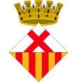 coat of arms of lhospitalet de llobregat of vector image vector image