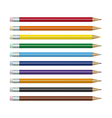 colored pencils set vector image