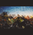 colorful polygonal background abstract form with vector image