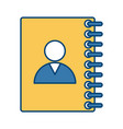 contacts address book vector image vector image
