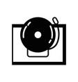 contour school bell alert object design vector image vector image