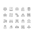 corporation line icons signs set outline vector image vector image