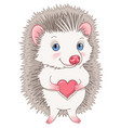 cute hedgehog character vector image vector image