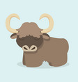 cute yak cartoon vector image