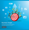 dartboard center goal strategy achievement and vector image