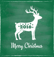 deer chalk 2016 green vector image vector image