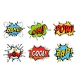 Emotions for comics speech like bang and cool vector image