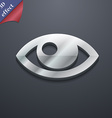 Eye icon symbol 3D style Trendy modern design with vector image vector image