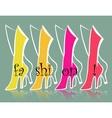 fashion backgrounds vector image