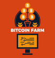 financial concept of bitcoin farm vector image
